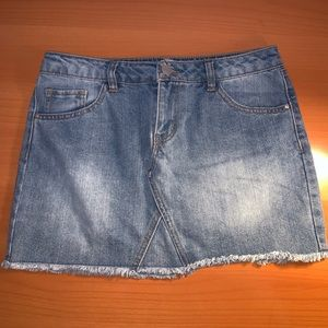 Refuge Denim Mini Skirt Charlotte Russe